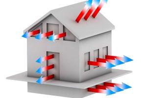 Perte de chaleur maison passive